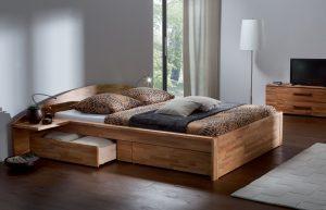Mẫu giường ngủ có ngăn kéo đôi