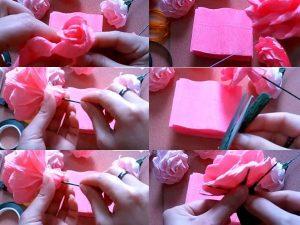 Bắt đầu tạo hình bông hoa