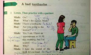 Một đoạn bài nghe trong tiếng Anh lớp 7
