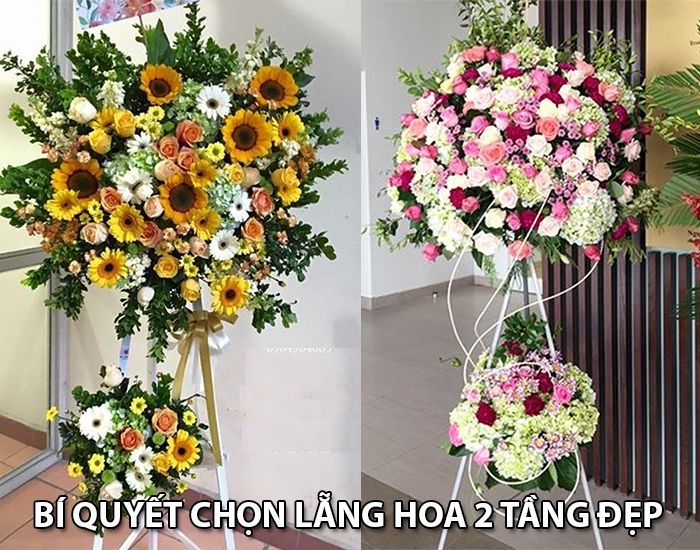 Bí quyết chọn lẵng hoa 2 tầng đẹp - Shop hoa tươi Mrhoa 1