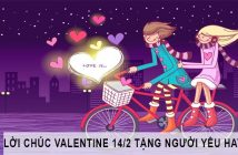 Lời chúc Valentine 14/2 hay nhất