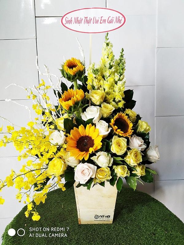 Mừng khai trương nên tặng hoa hướng dương